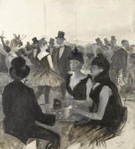 Art Prints of Masked Ball by Henri de Toulouse-Lautrec