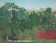 Art Prints of The Waterfall by Henri Rousseau