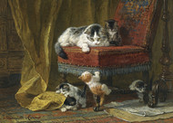 Art Prints of A Mother's Pride by Henriette Ronner Knip