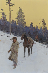 Art Prints of After the Hunt by Henry Farny