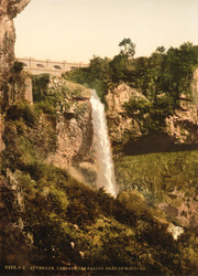 Art Prints of Salin's Waterfall near de Mauriac, Auvergne Mountains, France (386974)