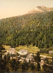 Art Prints of Le Cantal Le Lioran Hotels, Auvergne Mountains, France (386973)