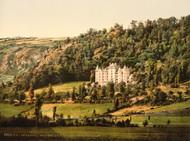 Art Prints of Le Cantal Chateau Anteroche, Murat, Auvergne Mountains, France (386984)
