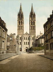 Art Prints of St. Etienne Church, Caen, France (387015)