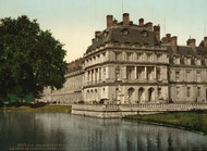 Art Prints of The Fountain and Carp's Pond, Fontainebleau Palace, France (387289)