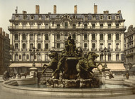 Art Prints of Bartholdi Fountain, Lyons, France (387339)