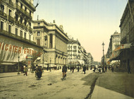 Art Prints of The Cannabiere and the Bourse, Marseilles, France (387348)