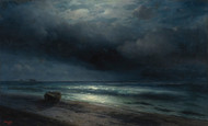 Art Prints of A Moonlit Night at Sea by Ivan Konstantinovich Aivazovsky