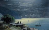 Art Prints of Crimean Coast by Moonlight by Ivan Konstantinovich Aivazovsky
