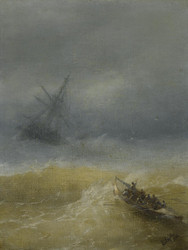 Art Prints of The Lifeboat by Ivan Konstantinovich Aivazovsky