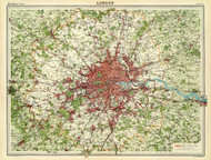 Art Prints of London, 1922 (2113027) by J.G. and John Bartholomew and Son