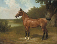 Art Prints of Lord Bingley's Hunter in a Wooded Landscape by Jacques-Laurent Agasse