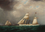Art Prints of American Steam Sail Yacht Emily at Sea by James Edward Buttersworth