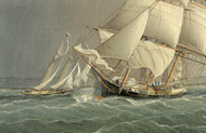 Art Prints of Merchant Brig and Schooner Yachts Racing by James Edward Buttersworth