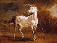 Art Prints of A Cossack Horse in a Landscape by James Ward