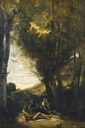 Art Prints of Saint Sebastian Rescued by the Holy Woman by Camille Corot