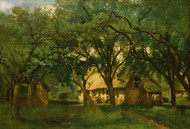 Art Prints of The Toutain Farm at Honfleur by Camille Corot
