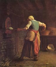 Art Prints of Woman Baking Bread by Jean-Francois Millet