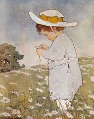 Art Prints of She Lufs Me, She Lufs Me Not by Jessie Willcox Smith