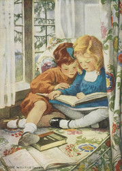 Art Prints of Children Reading by Jessie Willcox Smith
