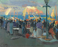 Art Prints of Arrival of the Catch by Joaquim Mir