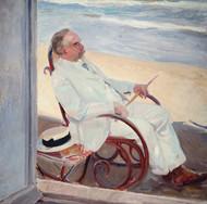 Antonio Garcia at the Beach by Joaquin Sorolla y Bastida
