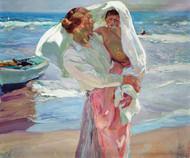 Art Prints of After Bathing by Joaquin Sorolla y Bastida
