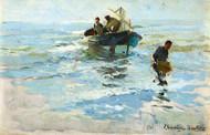 Art Prints of The Return of the Boat, Valencia Beach by Joaquin Sorolla y Bastida