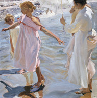 Art Prints of Time for a Bathe, Valencia by Joaquin Sorolla y Bastida