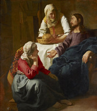 Art Prints of Christ in the House of Martha and Mary by Johannes Vermeer