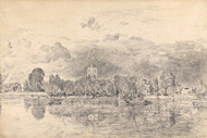 Art Prints of Fulham Church from across the River by John Constable