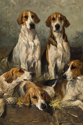 Art Prints of The Bitchpack of the Meath, Foxhounds, Detail by John Emms