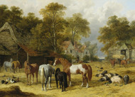 Art Prints of A Farmyard by John Frederick Herring