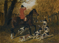 Art Prints of A Huntsman Recalling the Hounds by John Frederick Herring