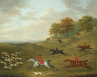 Art Prints of A Hunt in Full Cry by John Nost Sartorius