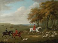Art Prints of The Duke of Beaufort's Hunt, Breaking Cover by John Nost Sartorius