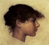 Art Prints of Head of Anacapri Girl by John Singer Sargent