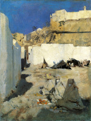 Art Prints of Moroccan Fortress with Three Women by John Singer Sargent