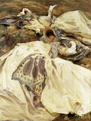 Art Prints of Two Girls in White Dresses by John Singer Sargent