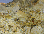 Art Prints of Bringing down Marble from Quarries to Carrara by John Singer Sargent