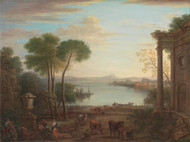 Art Prints of Classical Landscape with Livestock by John Wootton