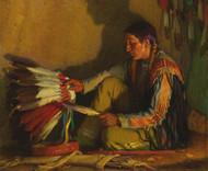 Art Prints of The War Bonnet II by Joseph Henry Sharp