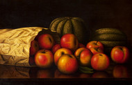 Art Prints of Apples, Melons and Paper bag by Levi Wells Prentice