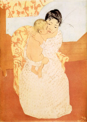 Art Prints of Maternal Caress, Sixth State by Mary Cassatt