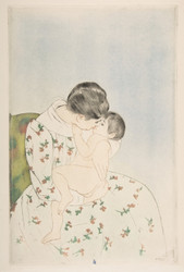 Art Prints of Mother's Kiss by Mary Cassatt