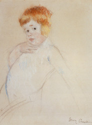 Art Prints of Study for the Caress by Mary Cassatt