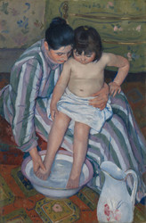 Art Prints of The Child's Bath by Mary Cassatt