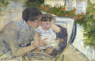 Art Prints of Comforting the Baby by Mary Cassatt