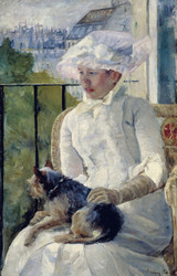 Art Prints of Young Girl at a Window by Mary Cassatt