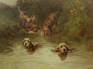 Art Prints of Otterhounds on the Scent by Maud Earl